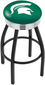 Michigan State University Ribbed Ring Bar Stool