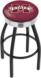 Mississippi State University Ribbed Ring Bar Stool