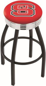North Carolina State Univ Ribbed Ring Bar Stool