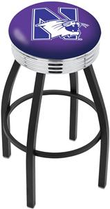 Northwestern University Ribbed Ring Bar Stool
