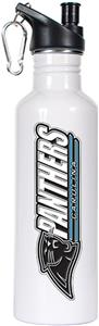 NFL Carolina Panthers White Stainless Water Bottle