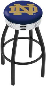 Notre Dame  (ND) Ribbed Ring Bar Stool
