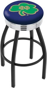 Notre Dame  (Shamrock) Ribbed Ring Bar Stool