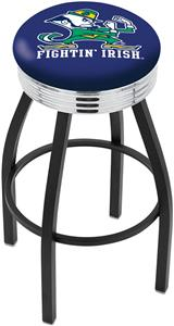 Notre Dame (Leprechaun) Ribbed Ring Bar Stool