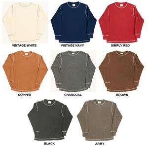 J America Vintage Long Sleeve Thermal Shirts