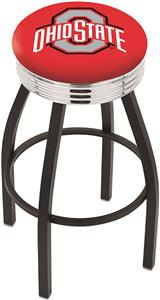 Ohio State University Ribbed Ring Bar Stool