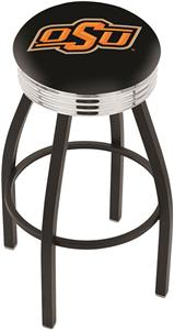 Oklahoma State University Ribbed Ring Bar Stool