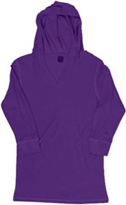 J America Womens Vanity 3/4 Sleeve Hooded Tee