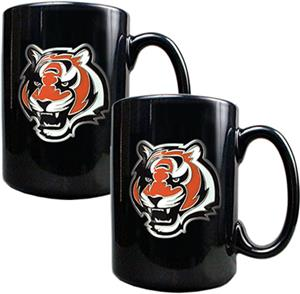 NFL Cincinnati Bengals Black Ceramic Mug(Set of 2)