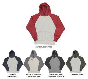 J America Adult Vintage Heather Hooded Sweatshirts