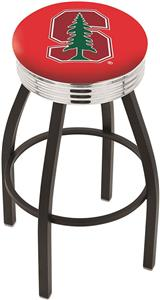 Stanford University Ribbed Ring Bar Stool