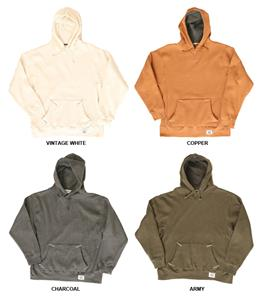 J America Vintage Thermal Lined Hooded Sweatshirts