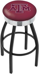 Texas A&M Ribbed Ring Bar Stool