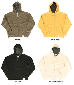J America Vintage Full Zip Thermal Lined Hoodies