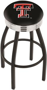 Texas Tech University Ribbed Ring Bar Stool