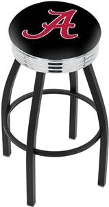 Univ of Alabama Script A Ribbed Ring Bar Stool