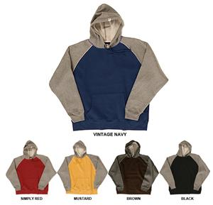 JAmerica Vintage Contrast Sleeves &amp; Piping Hoodies