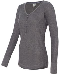 J America Womens Vanity Thermal Henley