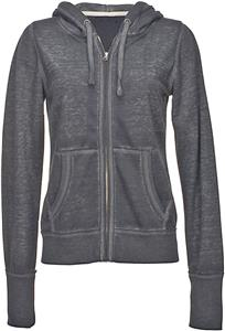 J America Ladies Zen Full Zip Hooded Sweatshirt