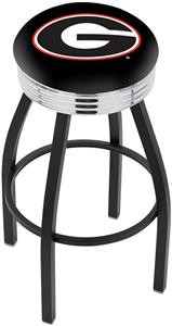 "Univ of Georgia ""G"" Ribbed Ring Bar Stool"