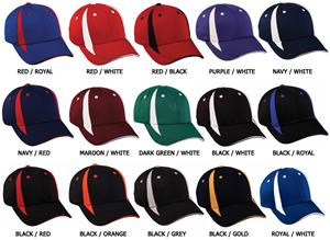 OC Sports Bamboo Charcoal Cap Contrasting Inserts