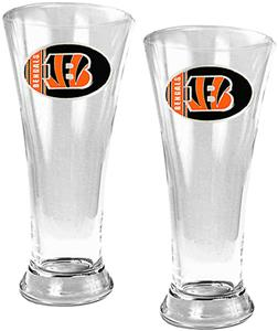 NFL Cincinnati Bengals 2 Piece Pilsner Glass Set