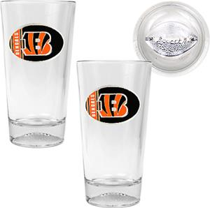 NFL Cincinnati Bengals 2 Piece Pint Glass Set