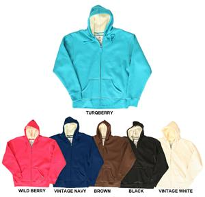 JAmerica Thermal Full Zip Hoodies w/ Sherpa Lining