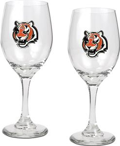 NFL Cincinnati Bengals 2 Piece Wine Glass Set