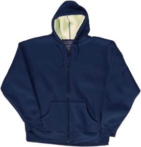 J America Fleece Full Zip Hoodies w/ Sherpa Lining