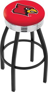 University of Louisville Ribbed Ring Bar Stool