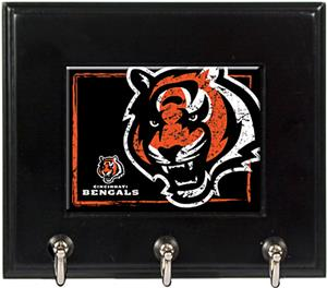 NFL Cincinnati Bengals Wood Keyhook Rack