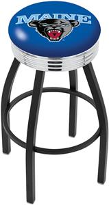 University of Maine Ribbed Ring Bar Stool