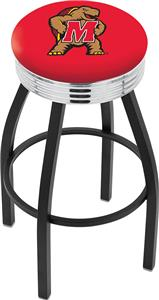 University of Maryland Ribbed Ring Bar Stool
