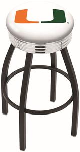 University of Miami FL Ribbed Ring Bar Stool