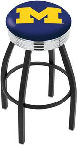 University of Michigan Ribbed Ring Bar Stool
