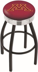 University of Minnesota Ribbed Ring Bar Stool