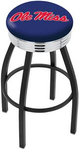 University of Mississippi Ribbed Ring Bar Stool
