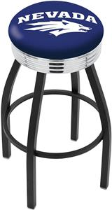 University of Nevada Ribbed Ring Bar Stool