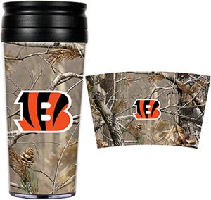 NFL Cincinnati Bengal 16oz Realtree Travel Tumbler