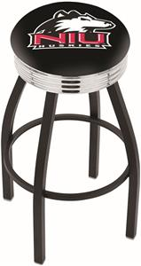 Univ of Northern Illinois Ribbed Ring Bar Stool