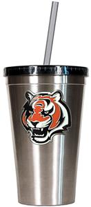 NFL Cincinnati Bengals 16oz Tumbler with Straw