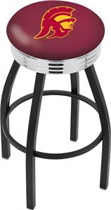 Univ of Southern California Ribbed Ring Bar Stool