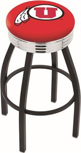 University of Utah Ribbed Ring Bar Stool