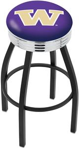 University of Washington Ribbed Ring Bar Stool