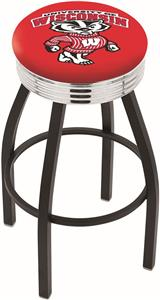University Wisconsin Badger Ribbed Ring Bar Stool