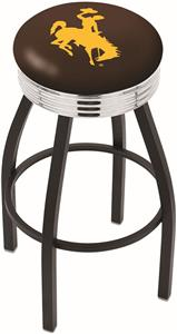 University of Wyoming Ribbed Ring Bar Stool