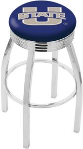 Utah State University Ribbed Ring Bar Stool