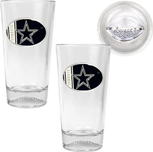 NFL Dallas Cowboys 2 Piece Pint Glass Set
