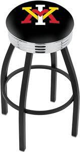 Virginia Military Institute Ribbed Ring Bar Stool